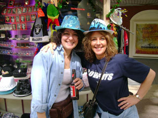 Hotties and Hats on Fremont Street...